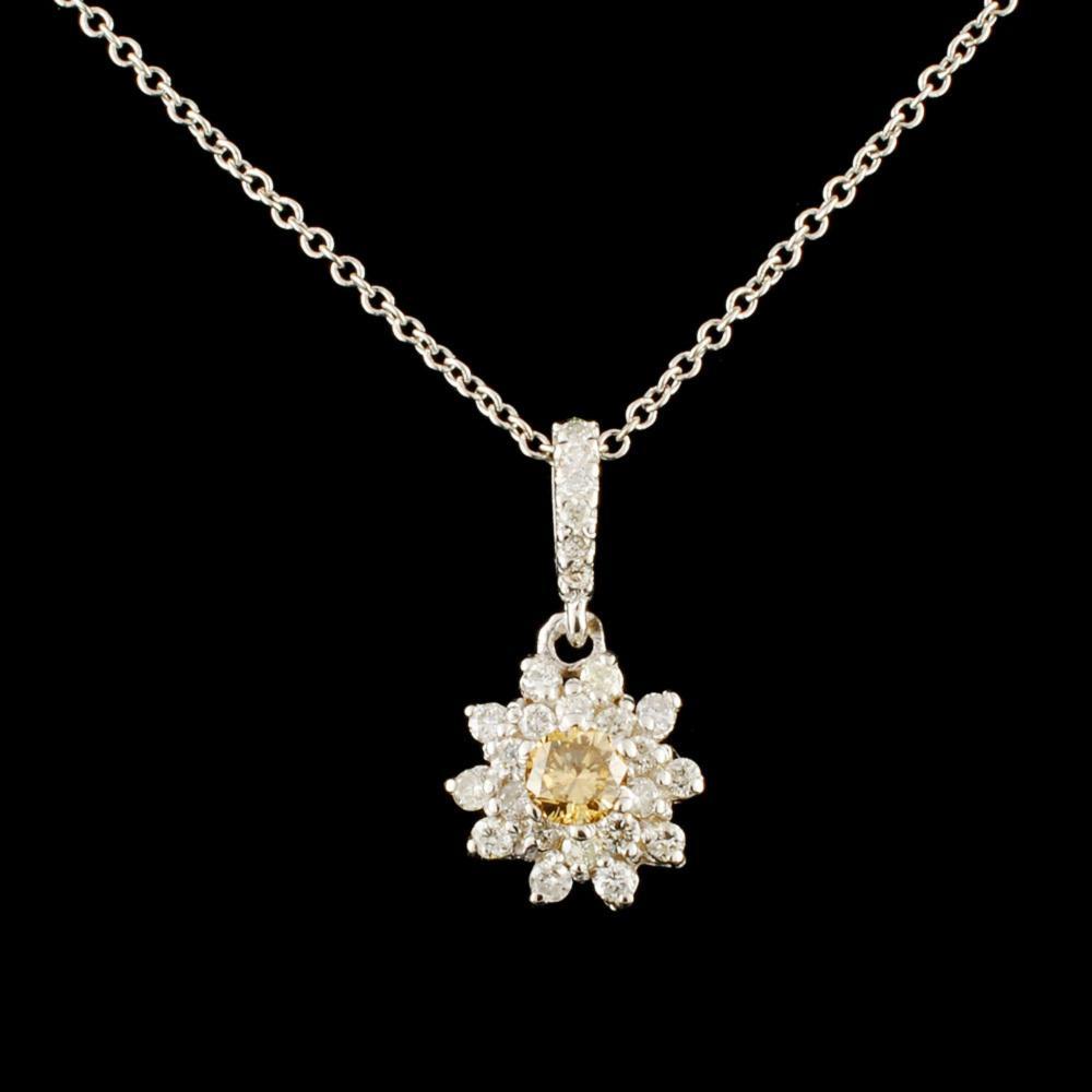 14K Gold 0.58ctw Diamond Pendant