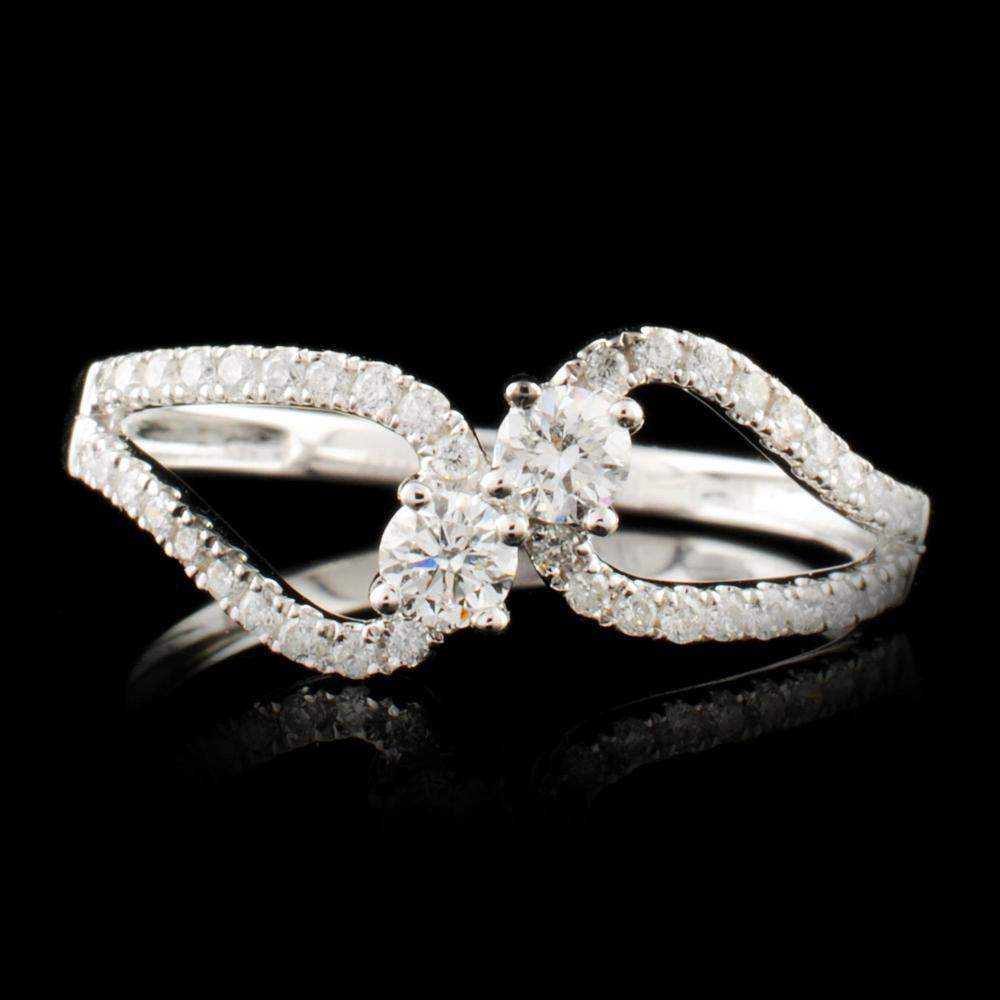 14K Gold 0.37ctw Diamond Ring