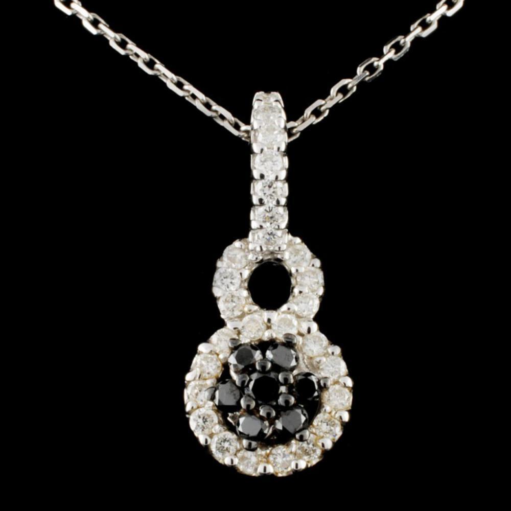 14K Gold 0.62ctw Fancy Diamond Pendant