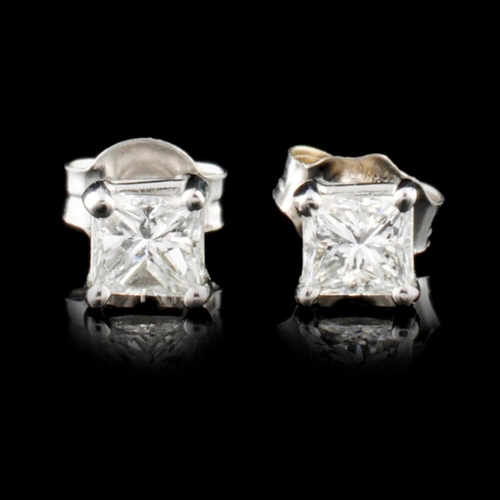 14K Gold 0.60ctw Diamond Earrings