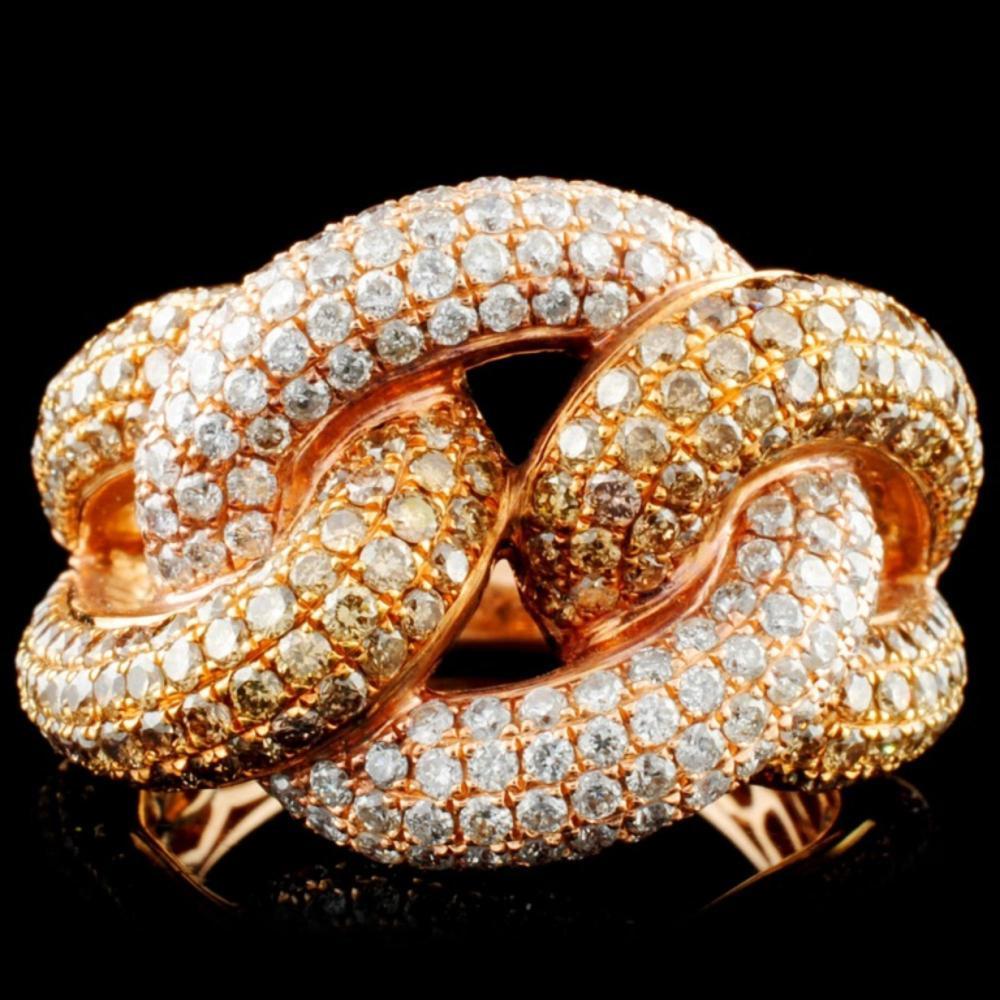 14K Gold 2.75ctw Fancy Color Diamond Ring