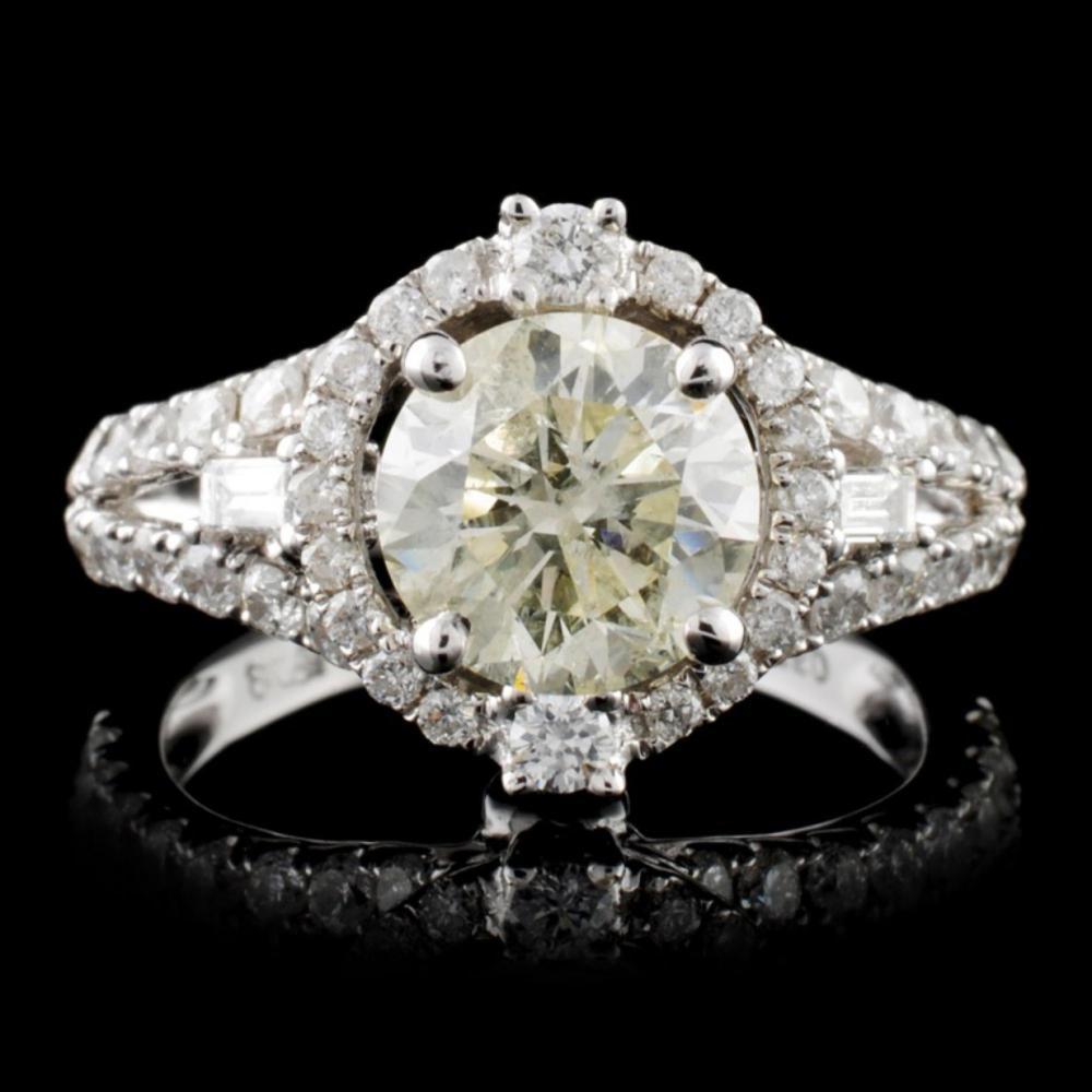 18K White Gold 2.86ctw Diamond Ring