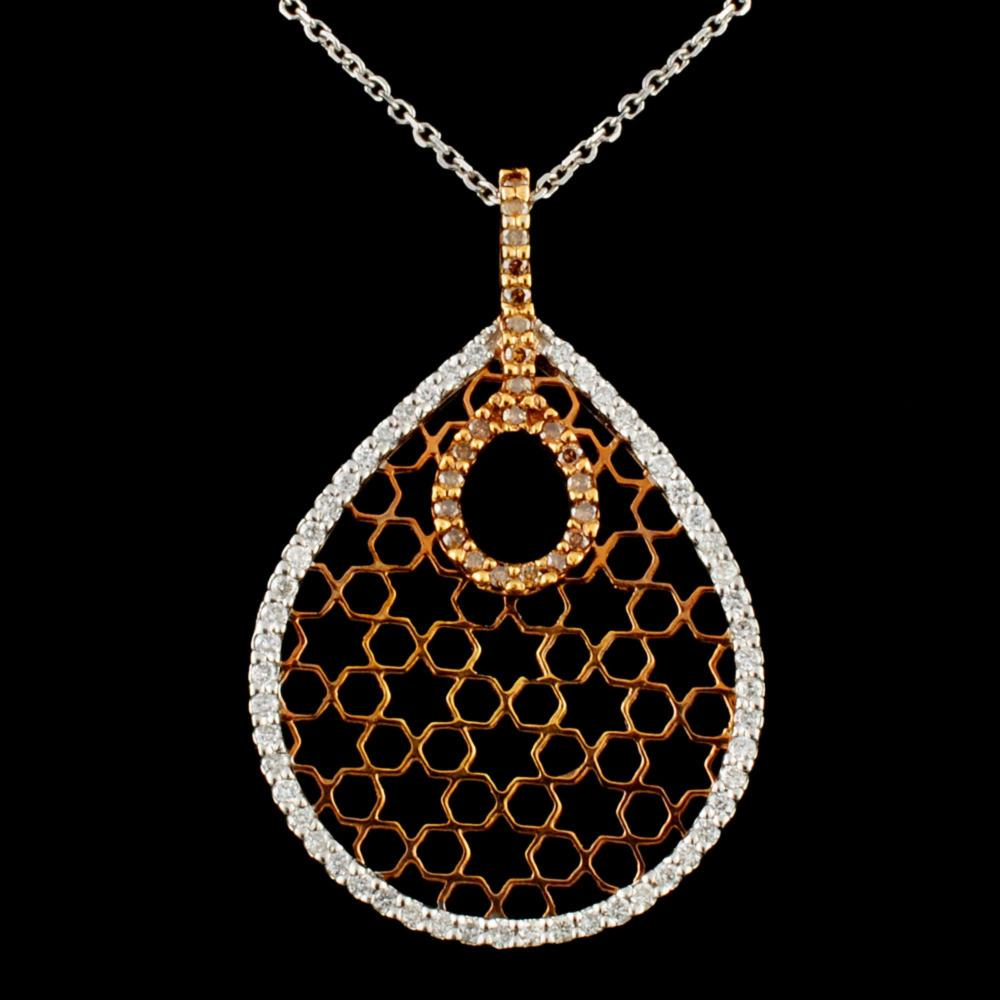 14K Gold 0.60ctw Diamond Pendant