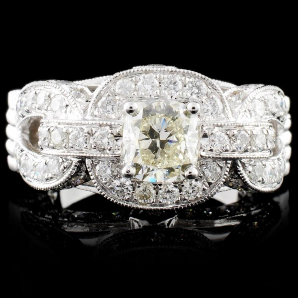 18K White Gold 2.97ctw Diamond Ring