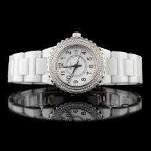 Polanti Ceramic Diamond Wristwatch