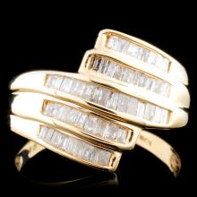 10K Gold 0.93ctw Diamond Ring
