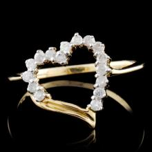 10K Yellow Gold 0.25ctw Diamond Ring