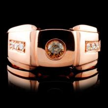 14K Rose Gold 0.31ctw Fancy Color Diamond Ring