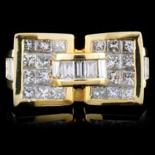 18K Yellow Gold 2.89ctw Diamond Ring