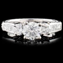 Platinum 1.68ctw Diamond Ring