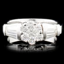 Platinum 0.63ctw Diamond Ring