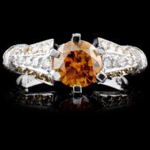 Platinum 2.31ctw Fancy Color Diamond Ring