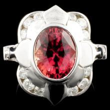 14K Gold 3.63ct Sapphire & 0.57ctw Diamond Ring