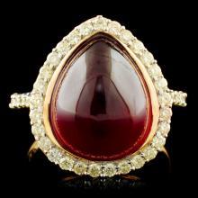 Genuine Ruby Ring Sterling Silver & Diamonds 10.17 CTW Gemstones