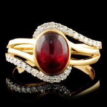 Genuine Ruby Ring Sterling Silver & Diamonds Gemstones 2.13 CTW