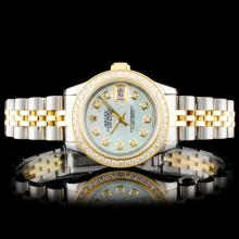 Rolex DateJust YG/SS 1.00ct Diamond Wristwatch
