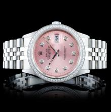 Rolex SS DateJust 1.00ctw Diamond Wristwatch