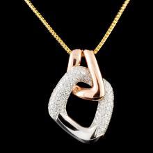 14K Gold 1.71ctw Diamond Necklace