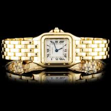 18K YG Cartier Panthere Ladies Watch