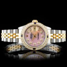 Rolex YG/SS DateJust 1.00ct Diamond Ladies Wristwa