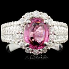 18K Gold 2.03ct Spinel & 1.11ctw Diamond Ring