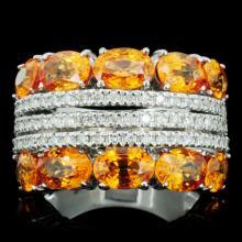 14K Gold 6.00ct Sapphire & 0.50ctw Diamond Ring