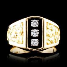 14K & 23K Gold 0.26ctw Diamond Ring