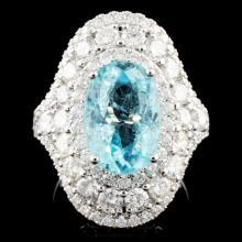 18K Gold 4.13ct Tourmaline &2.30ctw Diamond Ring
