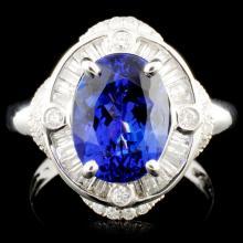 18K Gold 3.62ct Tanzanite & 0.58ctw Diamond Ring