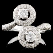 14K White Gold 1.19ctw Diamond Ring