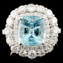 18K Gold 3.33ct Tourmaline &1.74ctw Diamond Ring