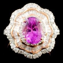 14K Gold 2.24ct Sapphire & 1.30ctw Diamond Ring