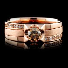 14K Rose Gold 0.57ctw Fancy Color Diamond Ring