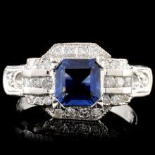 14K Gold 1.12ct Sapphire & 0.54ctw Diamond Ring