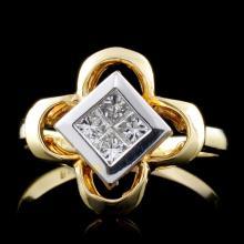 18K Yellow Gold 0.30ct Diamond Ring