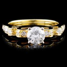 18K Yellow Gold 0.93ctw Diamond Ring