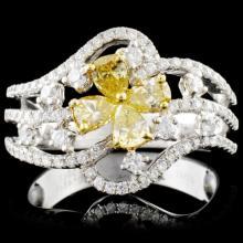 18K Gold 0.98ctw Fancy Diamond Ring