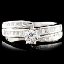 14K Gold 0.76ctw Diamond Ring