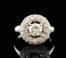 14K WGold 1.89ctw Natural Diamond Ring 0.96CT Center