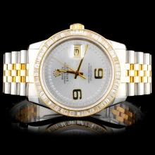 Rolex Two Tone DateJust 2.00ct Diamond Watch