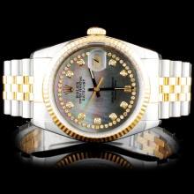 Rolex Two-Tone DateJust Diamond Watch