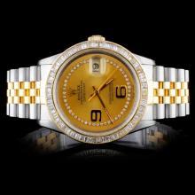 Rolex DateJust 3.50ct Diamond Men's Watch