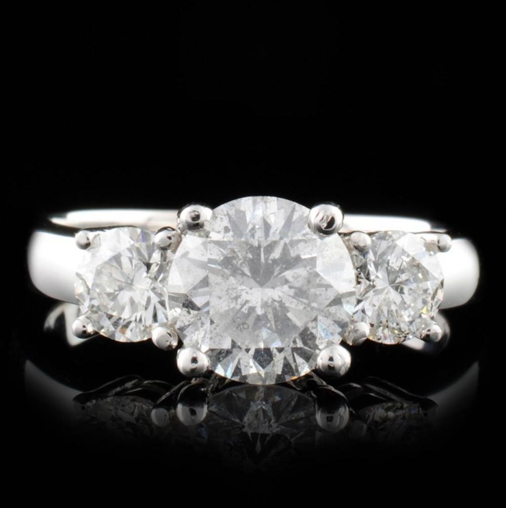 14K White Gold 2.14ctw Diamond Ring
