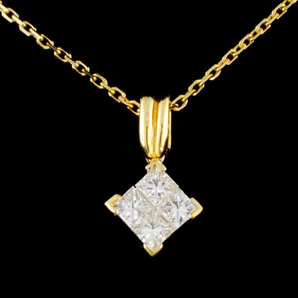 18K Gold 0.50ctw Diamond Pendant