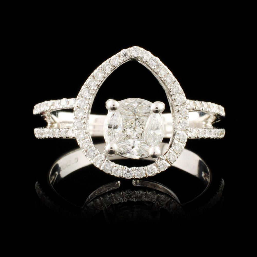 18K Gold 0.98ctw Diamond Ring
