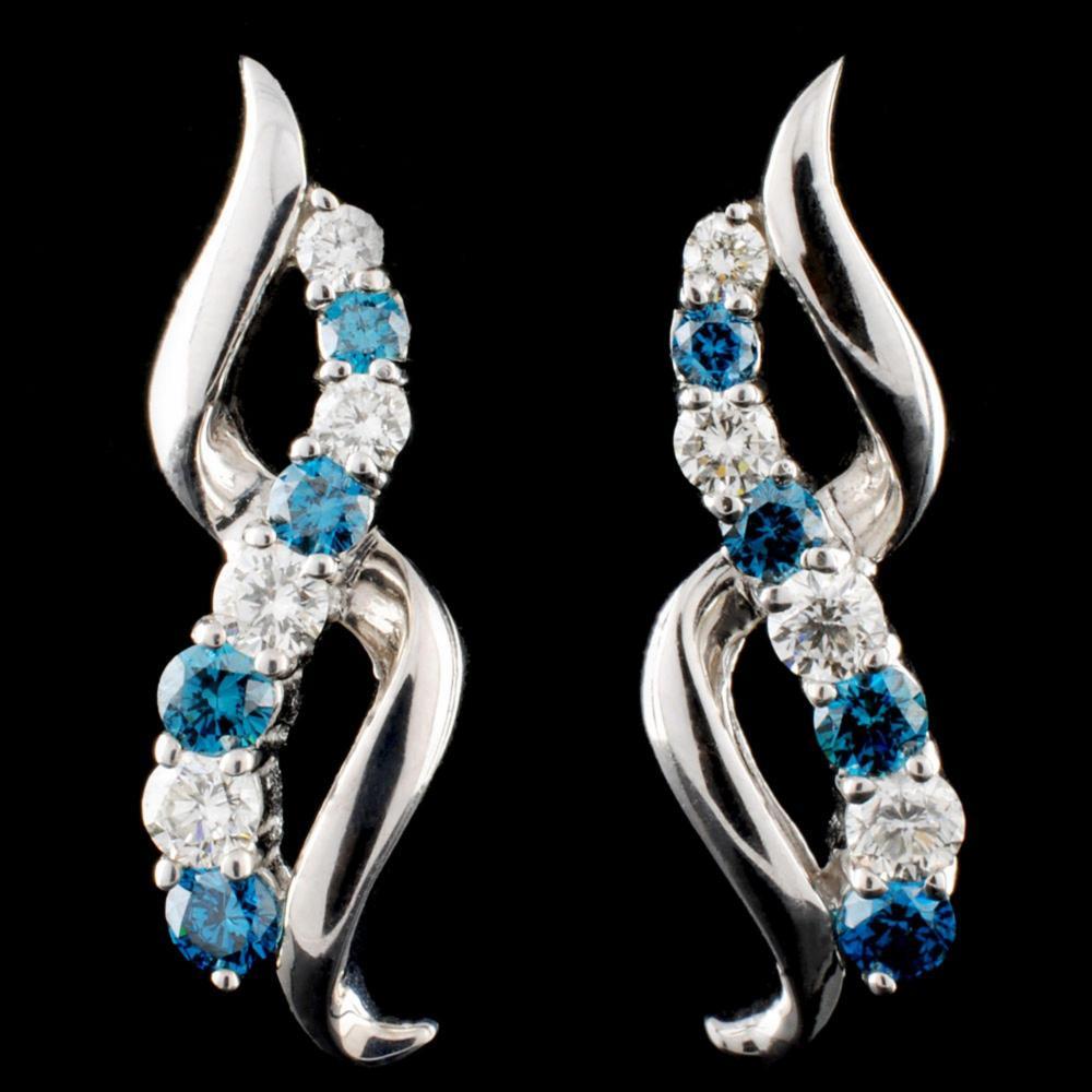 18K Gold 1.14ctw Diamond Earrings