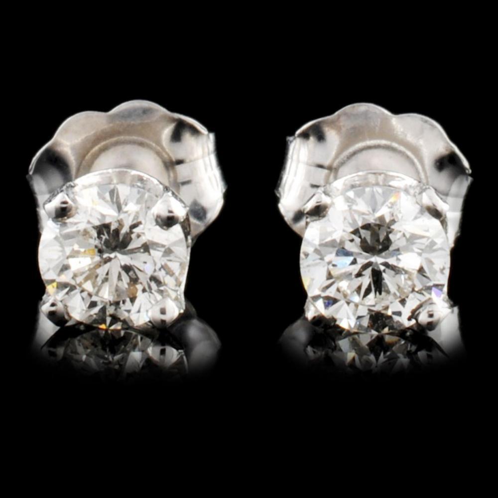 14K Gold 0.66ctw Diamond Earrings