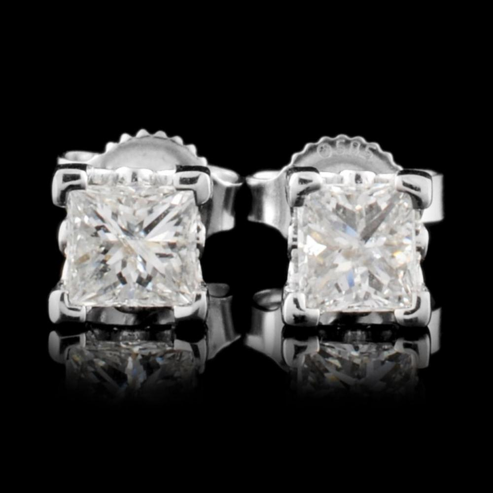 14K Gold 0.64ctw Diamond Earrings