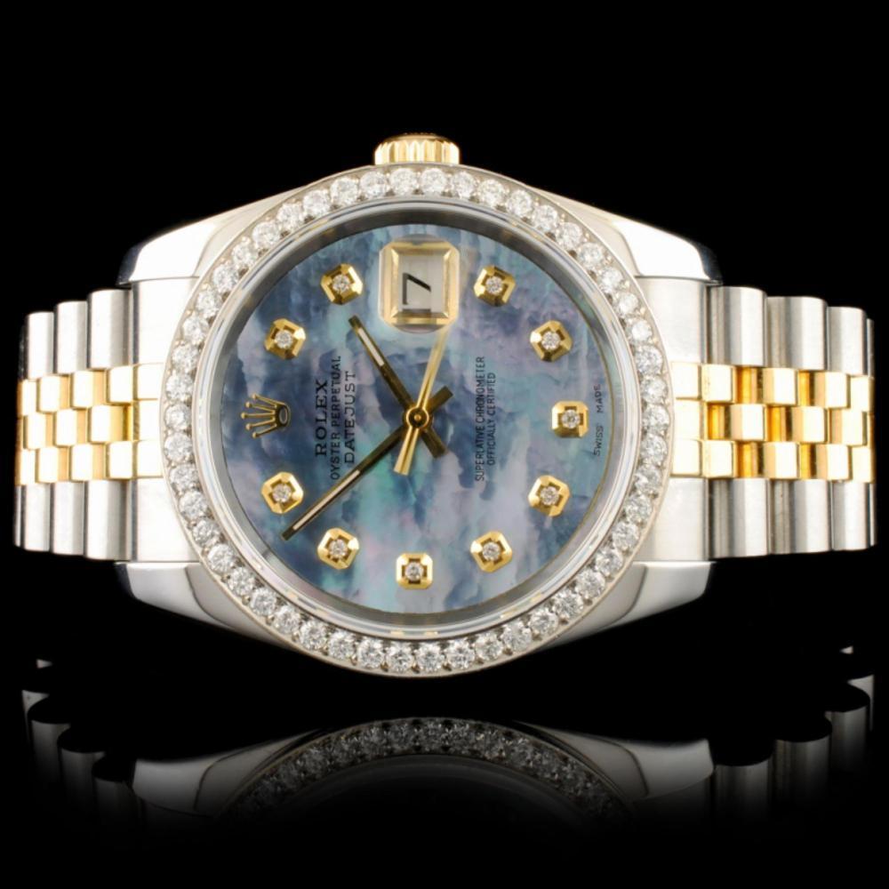 Rolex DateJust 116233 18K YG/SS Diamond 36MM Watch