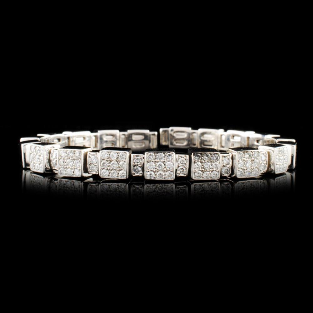 18K Gold 1.44ctw Diamond Bangle